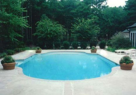 Grecian style formal pool